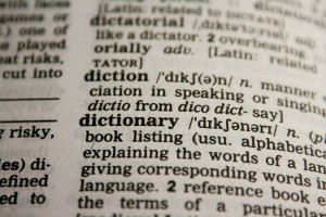 a photo of a page in a dictionary
