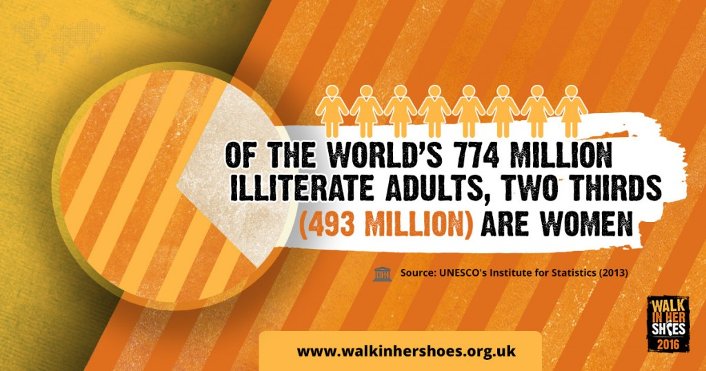 Of the world's 774 million illiterate adults, two thirds (493 million) are women.