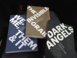 Picture of books - We, Me, Them & It, Dark Angels, The Invisible Grail