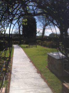 Memorial garden at Old Hartley