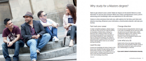 Northumbria University Postgraduate prospectus - Masters spread
