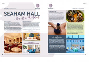 Luxury Lodge Estates Seasons Magazine - Seaham Hall spread
