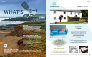 Luxury Lodge Estates Seasons Magazine - What's New spread