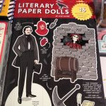 Literary paper dolls book makes a great gift for a writer