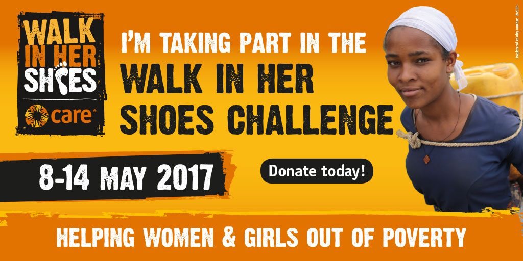 Walk in Her Shoes Challenge 8-14 May 2017