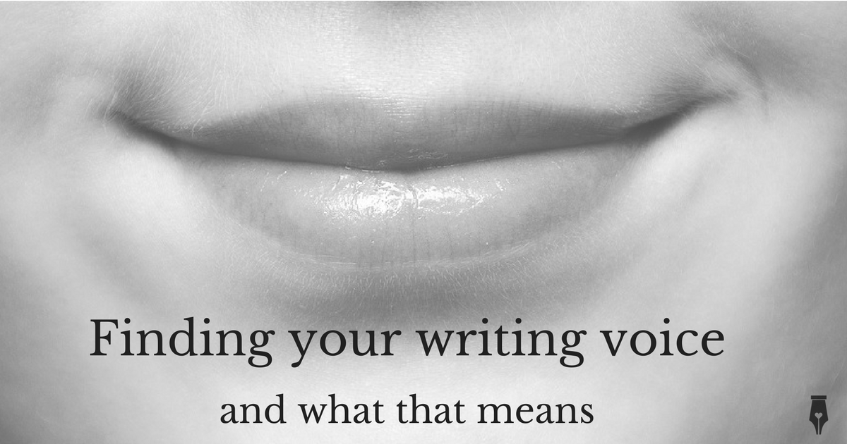 Finding your writing voice and what that means
