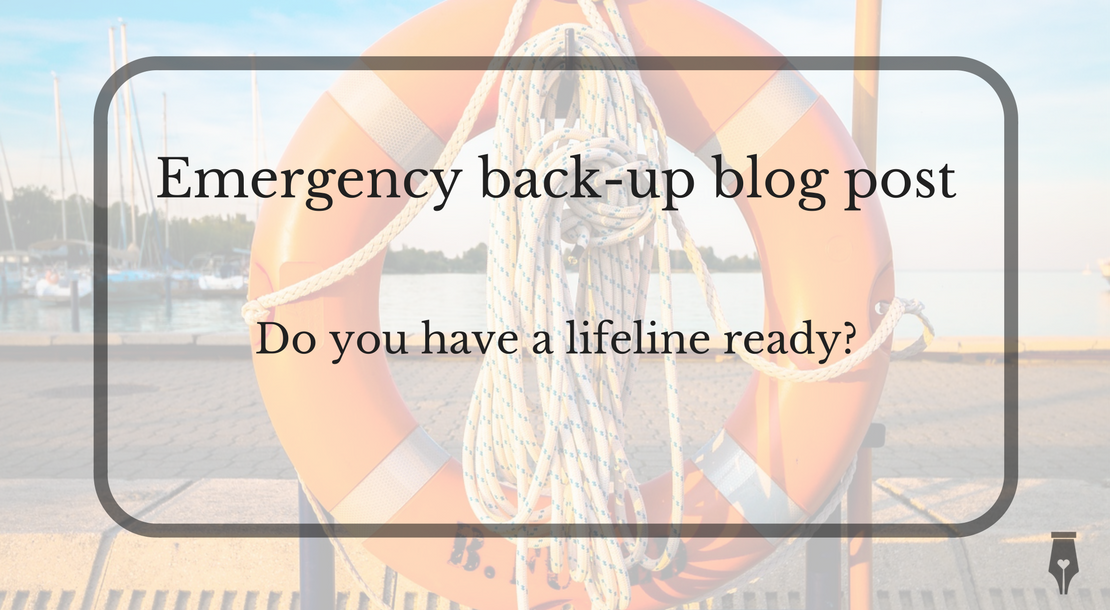 Emergency back-up blog post
