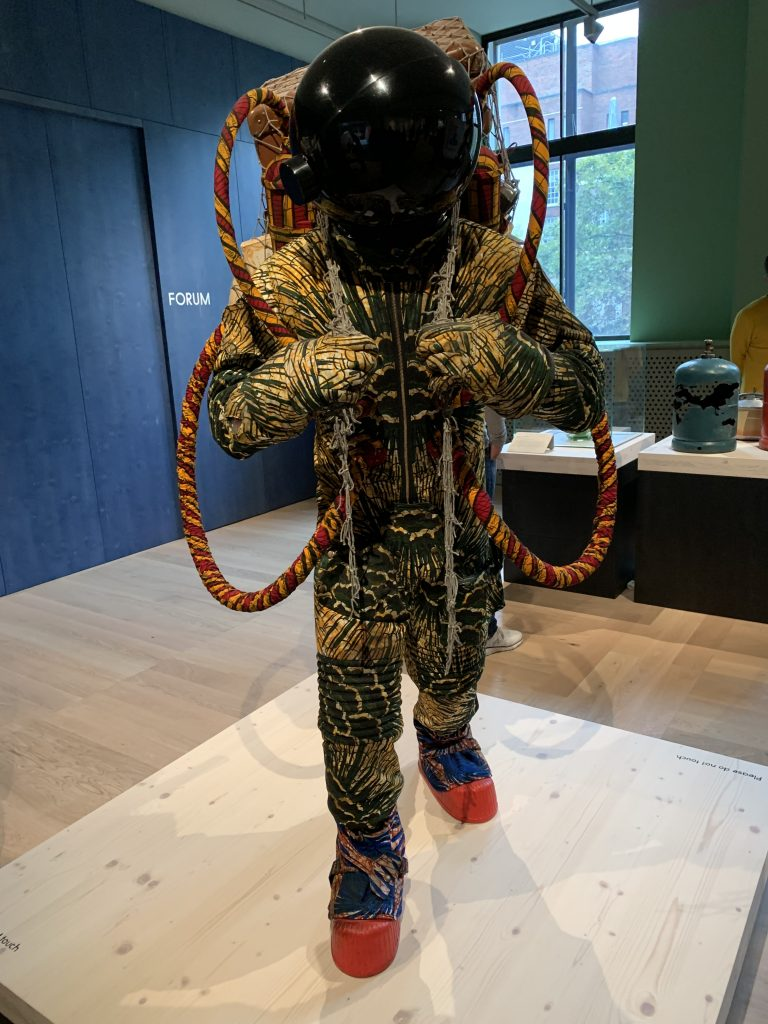 Refugee Astronaut III by Yinka Shonibare at the Wellcome Collection